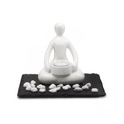 Set relajante con figura de yoga