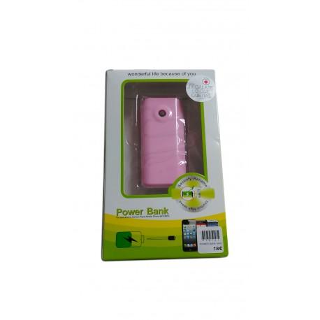 Cargador portátil rosa