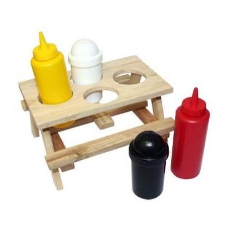 Picnic table - condiment set